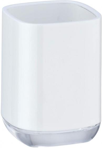 badkamerbeker Masone 10,5 x 7,5 cm polystyreen wit