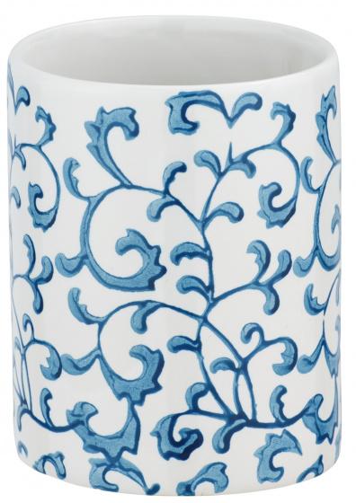 badkamerbeker Mirabello 11 x 8 cm keramiek blauw