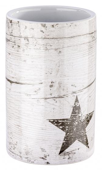tandenborstelhouder Star 7 x 11 cm keramiek taupe