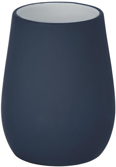 badkamerbeker Sydney 8,5 x 11 cm keramiek matblauw