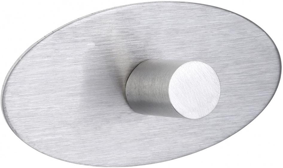 wandhaak met strip 5 cm RVS zilver 2 stuks