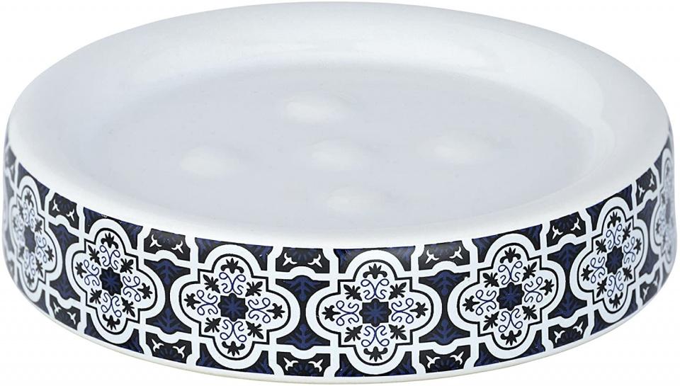 zeephouder Murcia 11 cm keramiek blauw/wit