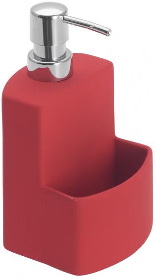 zeepdispenser Festival 380 ml keramiek rood