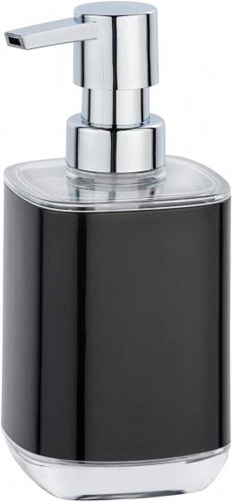 zeepdispenser Masone 330 ml polystyreen zwart/zilver