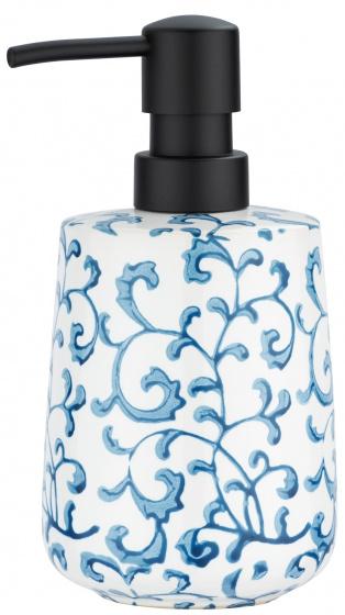 zeepdispenser Mirabello 400 ml keramiek blauw/wit