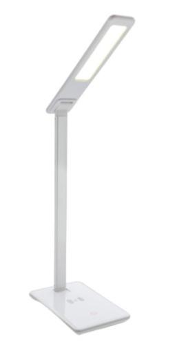 draadloze oplader en tafellamp 5W 38,6 cm ABS wit