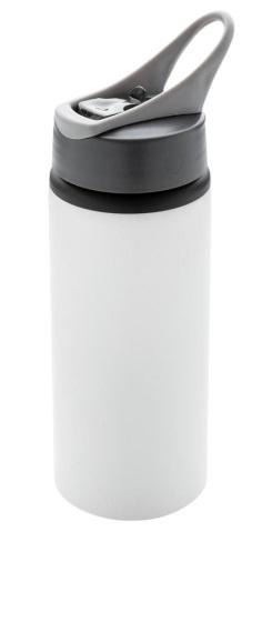 drinkfles 22,3 cm 0,6 liter aluminium wit