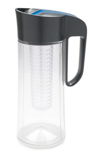 karaf met infuser Tritan 2 liter 30,5 cm ABS grijs