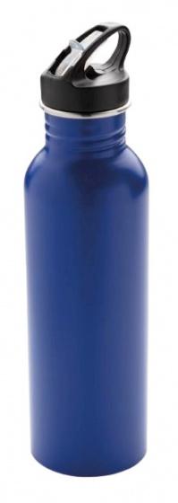 sportfles Deluxe 710 ml RVS blauw