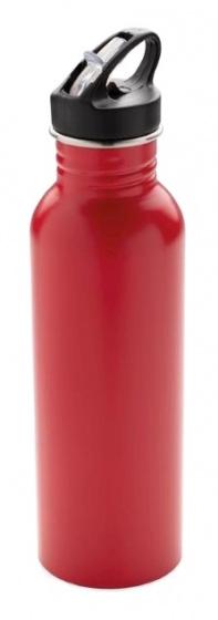 sportfles Deluxe 710 ml RVS rood