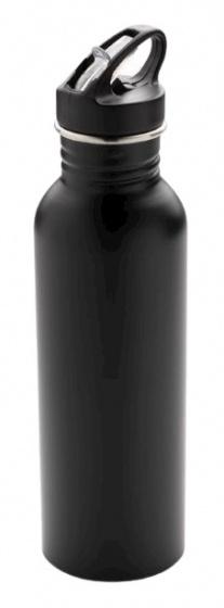 sportfles Deluxe 710 ml RVS zwart