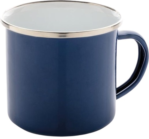 mok Vintage 0,35 liter 7,8 x 8,6 cm staal blauw