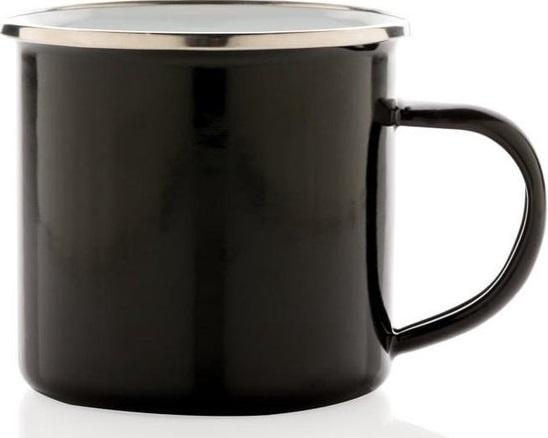 mok Vintage 0,35 liter 7,8 x 8,6 cm staal zwart