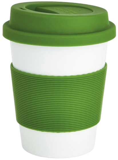 take-away beker 0,35 liter ABS/siliconen groen