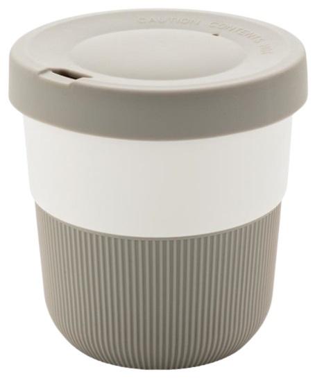 take-away beker 0,3 liter 8,6 cm ABS/siliconen grijs