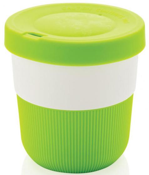 take-away beker 0,3 liter 8,6 cm ABS/siliconen groen