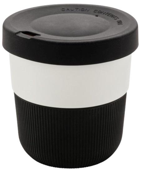 take-away beker 0,3 liter 8,6 cm ABS/siliconen zwart