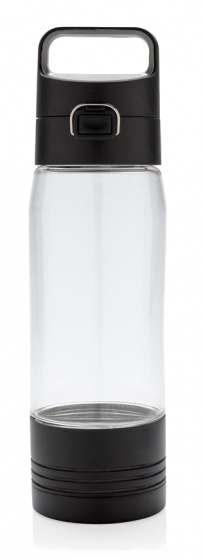 drinkfles met powerbank 5000 mAh ABS zwart 600 ml