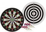 Abbey Darts dartbord Flock II 45 x 1,9 cm sisal zwart/wit 7-delig