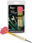 Abbey Darts dartpijlen Brass steeltip messing rood/wit 25 gr
