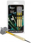 Abbey Darts dartpijlen Brass steeltip messing zwart/wit 24 gr