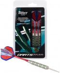 Abbey Darts dartpijlen steeltip nikkel rood/blauw 20 gr
