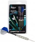Abbey Darts dartpijlen steeltip nikkel zilver/blauw 22 gr