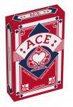 ACE speelkaarten linnen structuur 5,6 x 8,7 cm rood 55-delig