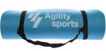 Agility Sports fitnessmat 180 cm rubber blauw