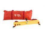 Agility Sports trainingsladder verstelbaar 400 cm geel/rood