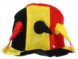 België Supportershoed met belletjes zwart/geel/rood