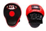 Ali's Fightgear stootpads 25 cm leer zwart/rood 2-delig