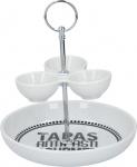 Alpina snack- en tapasschaal 2 lagen 17,5x22 cm wit