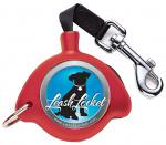 Altranet hondenriem LeashLocket nylon rood maat L