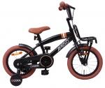 AMIGO Transportfietsen kinderen 2Cool 14 Inch 23 cm Jongens Terugtraprem Matzwart