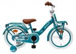 AMIGO Transportfietsen kinderen Bloom 16 Inch 24 cm Meisjes Terugtraprem Turquoise