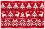 Amo La Casa deurmat Christmas 57 x 140 cm polyamide rood/wit