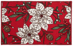 Amo La Casa deurmat Christmas 40 x 70 cm polyamide wit/rood