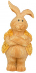 Arti Casa beeldje konijn met gele jas 12x9,5x14 cm polyresin