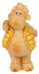 Arti Casa beeldje schaap met gele jas 12x9,5x14 cm polyresin