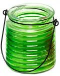 Arti Casa citronellakaars in glas 7,5 x 8,7 cm groen