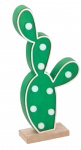 Arti Casa decoratieverlichting Cactus led 24 cm hout groen