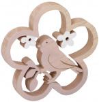 Arti Casa decoratie-ornament Vogel 18 cm hout blank