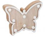 Arti Casa decoratieverlichting Vlinder led 22 cm hout blank