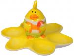 Arti Casa paasdecoratie eierschaal 15 cm geel 6 stuks