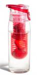 Asobu drinkfles Infuse Flavour 600 ml rood/transparant
