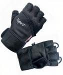 Atipick fitness-handschoenen Expert Gel elastaan/katoen zwart mt L
