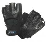 Atipick fitness-handschoenen Go Gel neopreen/leer zwart maat L