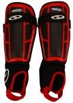 Avento Scheenbeschermers Pro-Style Soft rood/zwart maat S