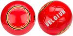 Avento voetbal Glossy België kusntleer rood